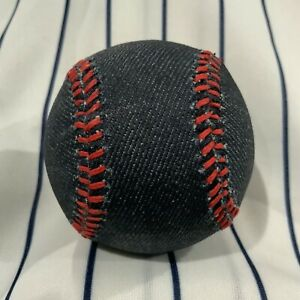 """Blue Denim """"jeans"""" Red Stitches Promotional Souvenir baseball collectible ball"""