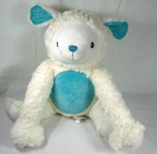 Piccolo Bambino White And Blue Plush Lamb Toy