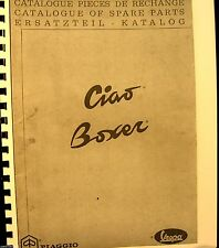 Vespa Piaggio-Ciao Boxer Catalogue Of Spare Parts French 62 Illustrated Pages