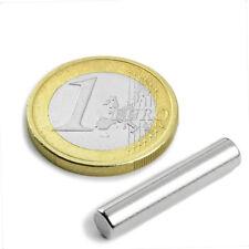 Super Magnete 5 Cilindri al Neodimio Diam. 5 mm Alt. 25 mm 1000 gr. S-05-25-N