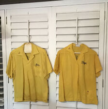 Vintage Bowling Shirt King Louie 60's His Hers Set Embroidered excavator