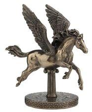 "New 6.5"" Pegasus On Zodiac Base Bronze Statue Figurine Free Shipping"