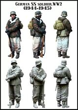 1/35 RESIN MODEL KIT FIGURE WW2 GERMAN SS SOLDIER (1 TOP QUALITY MOLDED FIGURE)