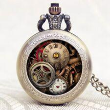 """Vintage Steampunk """"Gears"""" Pocket Watch Pendant! A Beautiful Gift Idea!"""