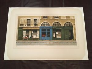 """ANDRE RENOUX """"Galerie St. Michel"""" Serigraph Lithograph Signed Numbered 21""""x30"""""""