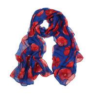 Flower Lady Women Fashion Stylish Soft Scarf Shawl Neck Wrap Headscarf Stole