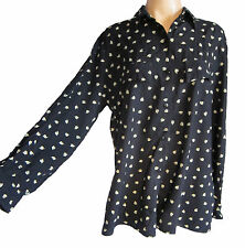 Unbranded Women's Cotton Button Down Collar Blouse Tops & Shirts