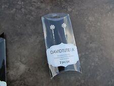 David Tutera Rhinestone Flower Bobby Pins Set of 2  Silver Metal