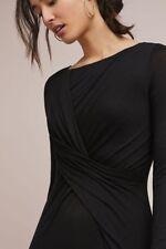 NWT Anthropologie Melanie Ruched Dress by Bailey 44, Sz L,black,$158, Beautiful