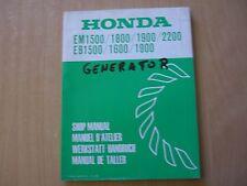 Generator Honda EM EB 1500 1600 1800 1900 2200 Werkstatthandbuch shop manual