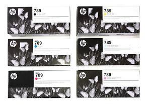 6 x Original Tinte HP DesignJet L25500 / Nr. 789 LATEX CH615A CH616A -CH620A INK