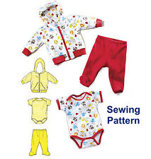 Kwik Sew K3811 Pattern Infants Jacket, Pants & Romper Sizes XS-XL BN