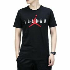 Nike Air Jordan Men's Center Logo Jump-Man T-shirt Tee - Black
