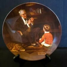 """Norman Rockwell Collector Plate """"The Tycoon"""" #1159Sl, Knowles China"""