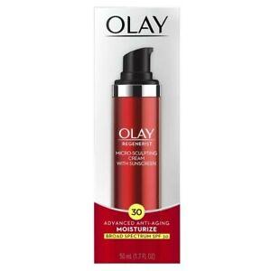 Olay Regenerist Micro Sculpting Cream with Sunscreen SPF 30 -1.7oz exp.04/2022