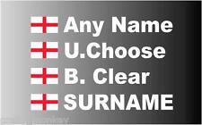 English Flag Rally Car Name  St. George Flag  decal sticker graphics