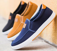 2018 Men's driving shoes canvas shoes Breathable slip-on shoes fashion sneakers