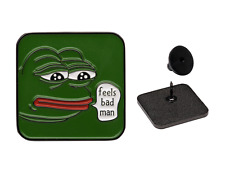 Sad Pepe The Frog V2 Enamel Lapel Pin - 4chan Kek Dank Meme Badge Button