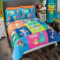 TOY STORY 4 KIDS ORIGINAL LICENSED REVERSIBLE COMFORTER SET 2 PCS TWIN SIZE