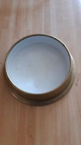 Beautiful Antique Vintage brass clarke and co number 1 Water Dog Bowl