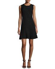 $398 NWT ELIE TAHARI 12 Harlow Black Sleeveless Studded Fit & Flare LBD Dress