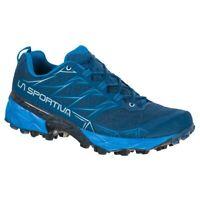 La Sportiva Akyra Scarpa Mountain Trail Running Hiking Blue Opal Neptune