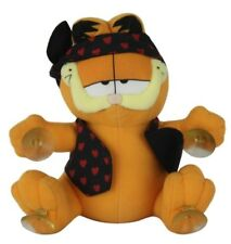 "PAWS Inc Garfield Plush Stuffed Toy Doll Animal Black Vest Hearts 8"" Sticks"