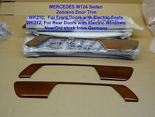 Mercedes W124 E Class ZEBRANO WOOD REAR DOOR PANELS with ELECTRIC Window 2pce