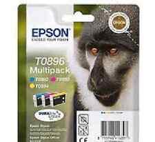 Epson SET OF 4 T0891 T0892 T0893 T0894 T0896 BK & COLOR