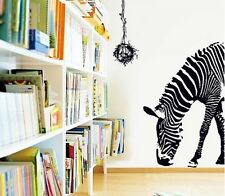 Black Zebra Art Wall Decal Decor Room Stickers can Removable Paper Home Mural SY