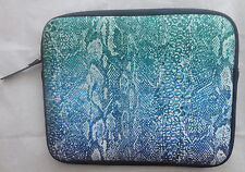 LUCKY BRAND OMBRE SNAKE NEOPRENE IPAD/TABLET SLEEVE/CASE/COVER TOP ZIP NWT