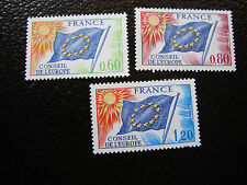 FRANCE - timbre - yvert et tellier service n° 46 a 48 n** (A3) stamp french (A)