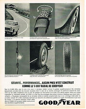 PUBLICITE ADVERTISING 1964   GOODYEAR  pneus