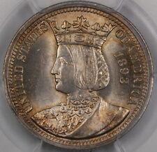 1893 Isabella Silver Quarter, PCGS MS-64 *Near Gem* Commemorative Coin