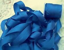 "100%PURE SILK RIBBON 1/2""[13MM] WIDE 5YD~ROYAL/BLUE~"