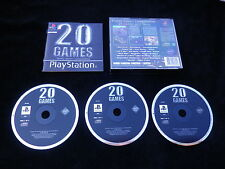 JEU Sony PLAYSTATION PS1 PS2 : 20 GAMES Family Games Compendium (COMPLET)