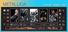 METALLICA MUSIC MEMORABILIA SIGNED PANO FRAME, LIMITED EDITION TO 499 with C.O.A