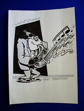 More details for hunt emerson ink drawing of max zillion ( jazz funnies). 8.25