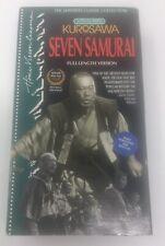 Seven Samurai - Vhs, 1993, 2-Tape Set - Good Condition - Rare