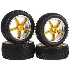 4x 1/10 HSP Off-Road Buggy Front Rear Wheel Rim Tyres,Tires Sponge Insert 66157