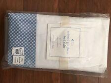 Brand New Pottery Barns Baby GINGHAM CRIB BED SKIRT BLUE