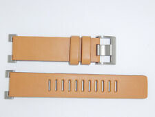 """New ORIGINAL Issey Miyake """"W"""" Ref. SILAY008 Leather Watch band Brown"""