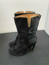Ladies ,Clarks, Black, Heeled Leather MID CALF boots Size-UK 5