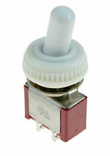 Interruptor de encendido/apagado Mini pequeño interruptor de palanca + Blanco impermeable cubierta Mini pequeñas SPST 12v