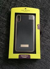 Ted Baker Black Textured iPhone XS Max Full Case Cover Rose Gold