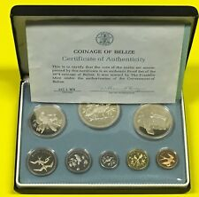 P12/4) Belize KMS 1974 1 Cent-10$ Silber 102,79 Gramm, PP Proof Set