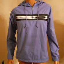 Reebok Vtg Women Small Blue Mesh Lined Windbreaker Pullover Jacket Hoodie 1/4