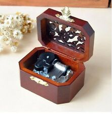WOODEN OCTAGON CARVING MUSIC BOX : ♫ What a Wonderful World  ♫