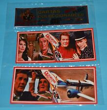 OCTOPUSSY James Bond 007 Roger Moore DOBLE METAL CARD PUZZLE ARGENTINA 2