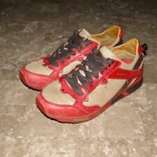 Diesel Anza Lifestyle Shoes Size 7 Red Gold Brown Women's
